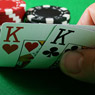 Jogando com K-K no início do torneio/CardPlayer.com.br