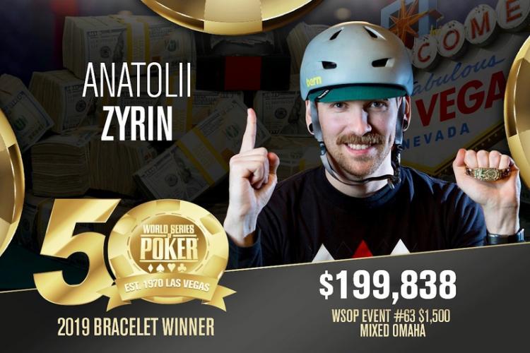 Anatolii Zyrin leva a melhor no Evento 63 da WSOP/CardPlayer.com.br