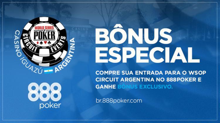 888poker oferece bônus para os jogadores do WSOP Circuit Argentina/CardPlayer.com.br