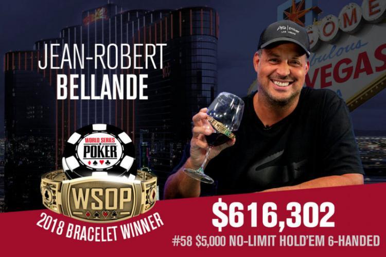Jean-Robert Bellande vence Evento 58 da WSOP/CardPlayer.com.br