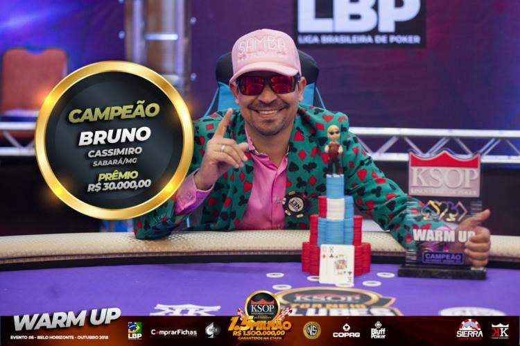 Bruno Cassimiro crava Warm-Up do KSOP Belo Horizonte e já sonha com título do Main Event/CardPlayer.com.br