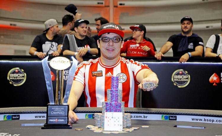 Paraguaio Gustavo Soler vence o BSOP Millions 2016/CardPlayer.com.br