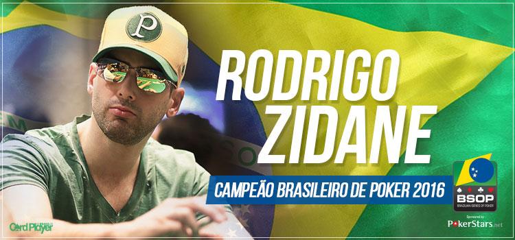 Rodrigo Zidane é o campeão brasileiro de poker da temporada 2016/CardPlayer.com.br