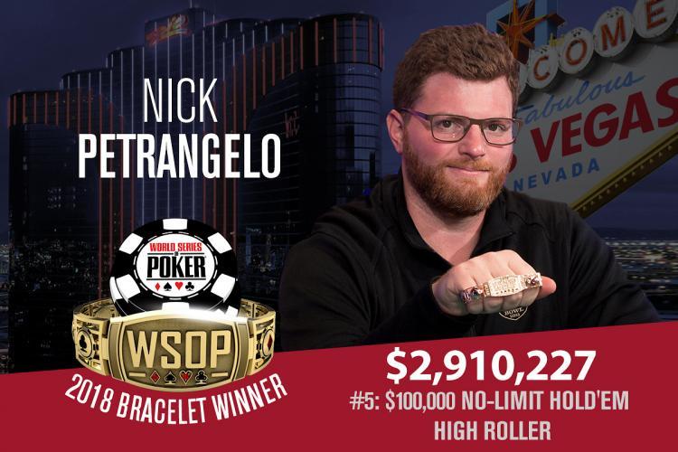 Nick Petrangelo crava 100K High Roller da WSOP/CardPlayer.com.br