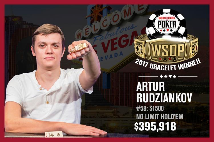 Artur Rudziankov leva a melhor no Evento 58 da WSOP/CardPlayer.com.br