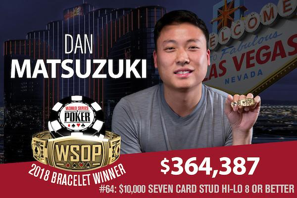Dan Matsuzuki crava Evento 64 da WSOP e impede primeiro bicampeonato de 2018/CardPlayer.com.br
