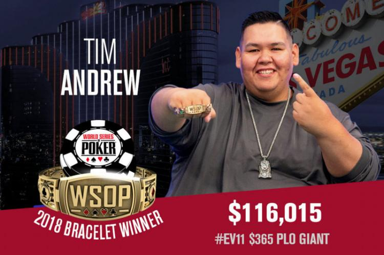 Tim Andrew vence PLO Giant da WSOP/CardPlayer.com.br