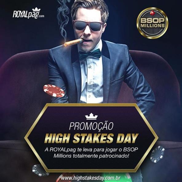 Ganhe o buy-in do Main Event do BSOP Millions nos freerolls da ROYALpag/CardPlayer.com.br
