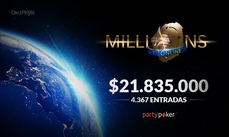 MILLIONS Online bate premiação garantida de US$ 20 milhões/CardPlayer.com.br