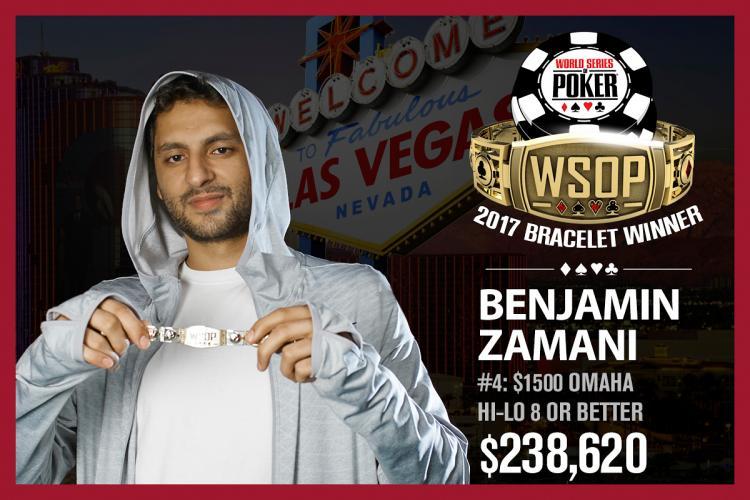 Benjamin Zamani leva primeiro evento de Omaha da WSOP/CardPlayer.com.br