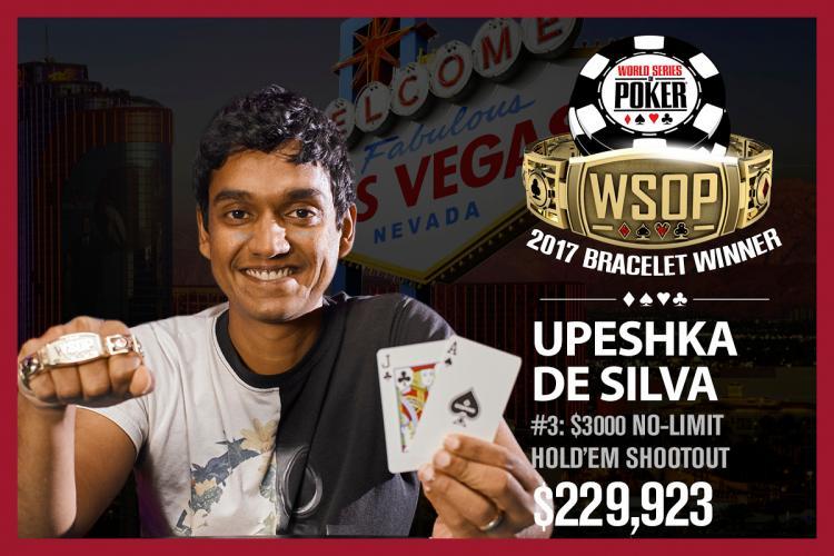 Upeshka De Silva vence evento shootout da WSOP/CardPlayer.com.br