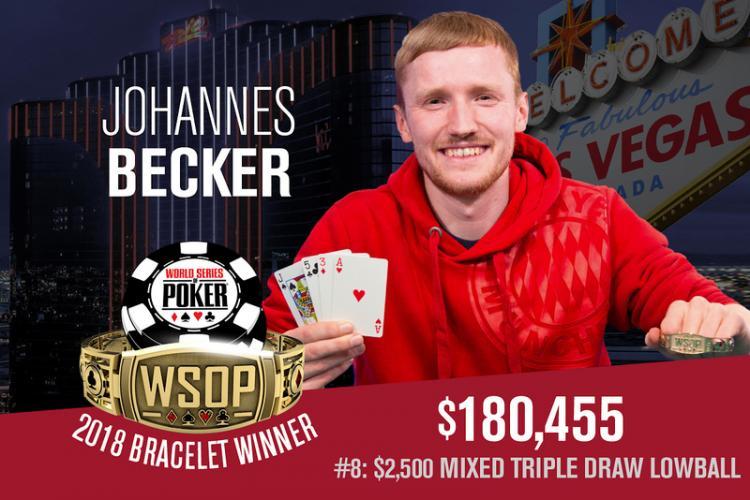 Johannes Becker leva a melhor no Evento 8 da WSOP/CardPlayer.com.br