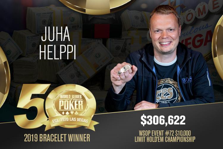 Juha Helppi vence Evento 72 da WSOP /CardPlayer.com.br