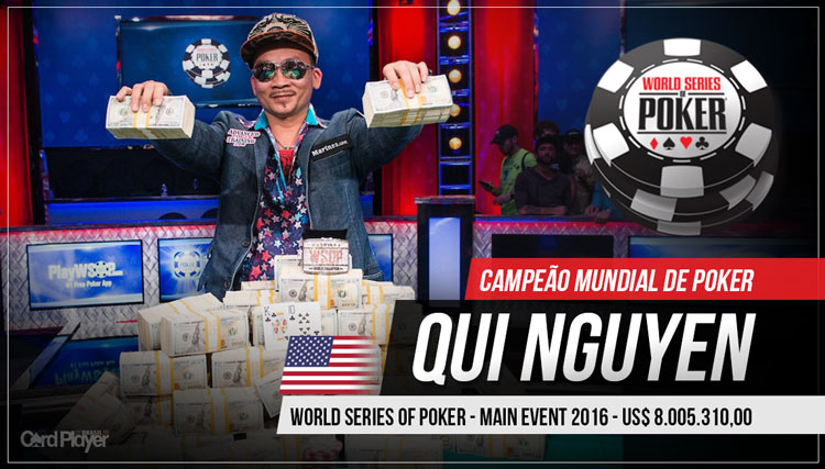 Qui Nguyen é o novo campeão mundial de poker/CardPlayer.com.br