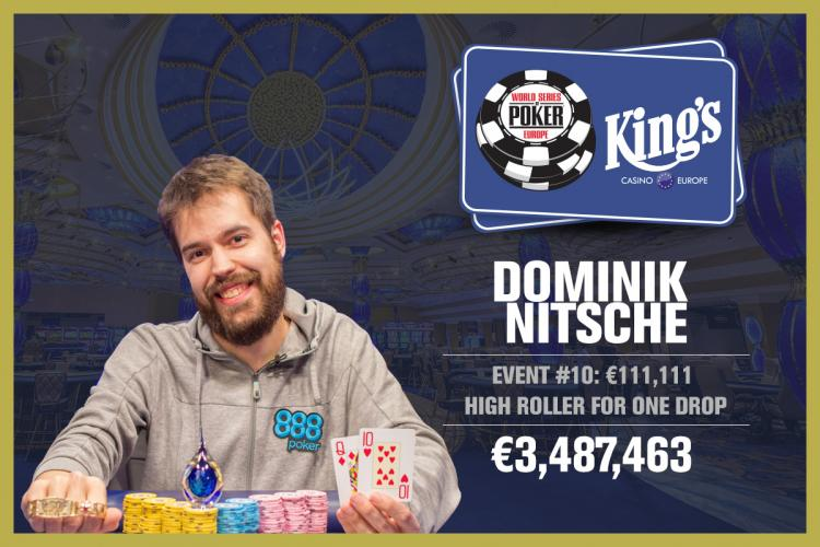 Dominik Nitsche crava High Roller for One Drop da WSOP Europa/CardPlayer.com.br