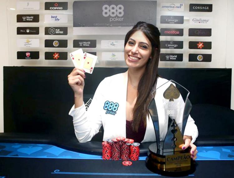 Vivian Saliba é campeã do Play Boutique 888poker/CardPlayer.com.br