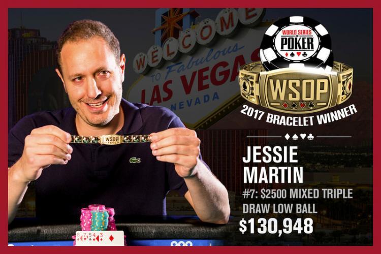 Jesse Martin fatura o bicampeonato da WSOP no Evento 7/CardPlayer.com.br