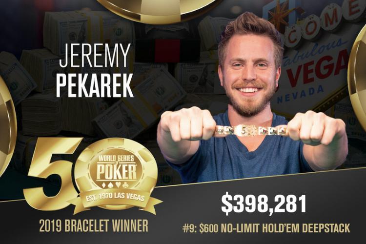 Jeremy Pekarek supera enorme no field no Evento 9 para conquistar inédito bracelete na WSOP/CardPlayer.com.br