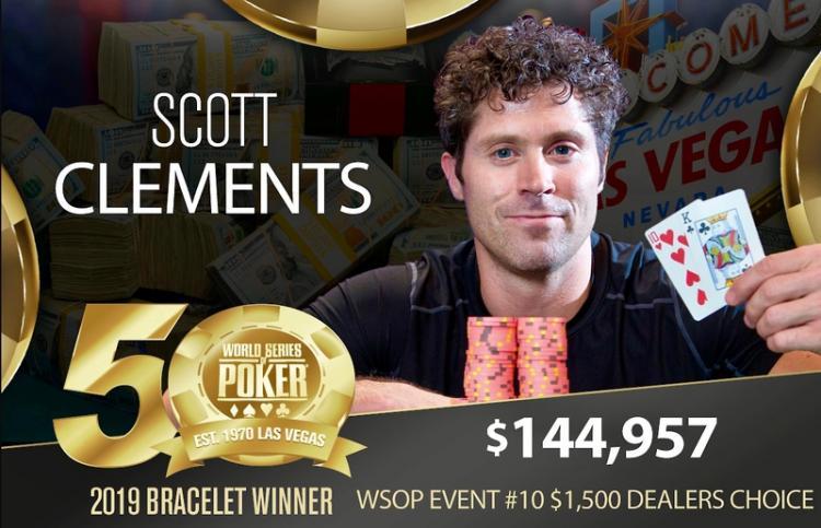Scott Clements quebra jejum de 12 anos sem vitória na WSOP/CardPlayer.com.br