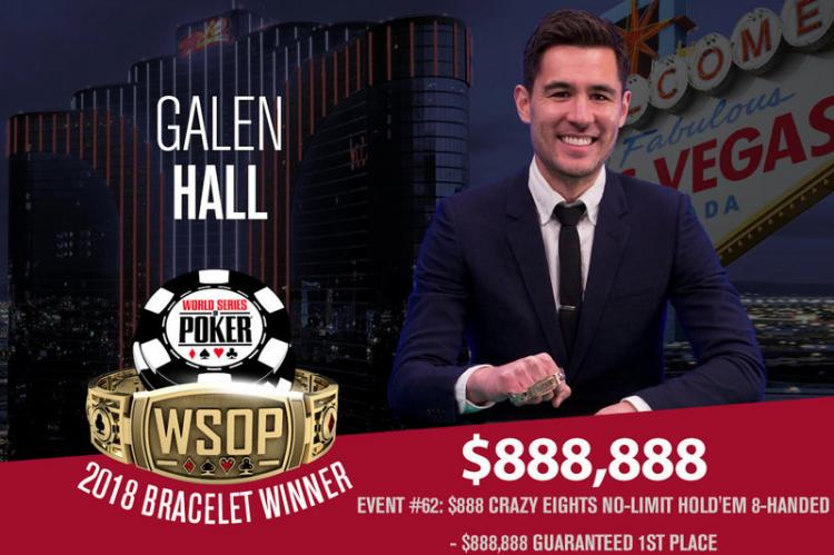 Galen Hall conquista título do Crazy Eights da WSOP/CardPlayer.com.br