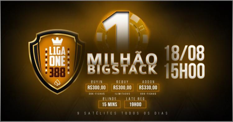 Liga One 388 realiza evento com R$ 1 milhão garantido no PPPoker/CardPlayer.com.br