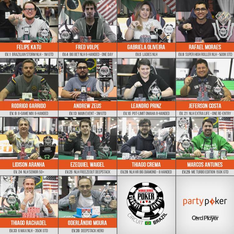 Veja quem faturou o anel de ouro do WSOP Circuit Brasil/CardPlayer.com.br