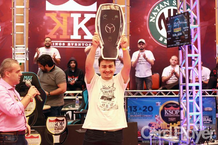 """Johnatan """"Dodô"""" Oliveira conquista o título do ranking do KSOP 2018/CardPlayer.com.br"""