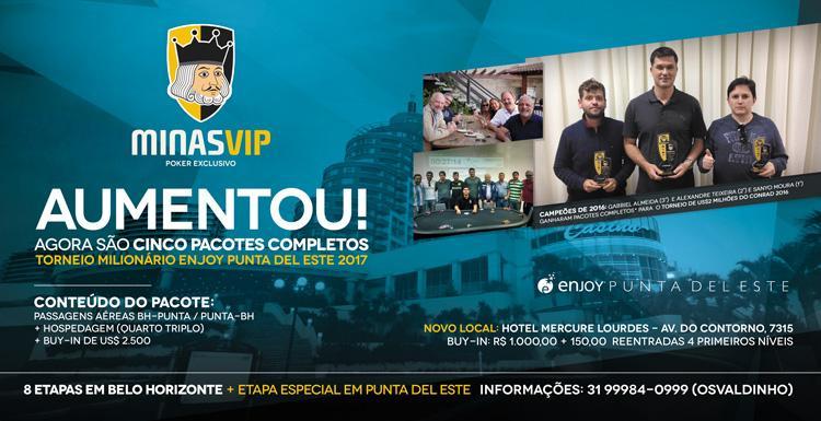 Minas Vip retorna no próximo sábado/CardPlayer.com.br