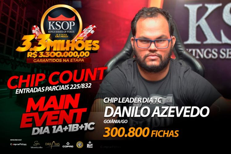 Danilo Azevedo lidera o Dia 1C do KSOP São Paulo/CardPlayer.com.br