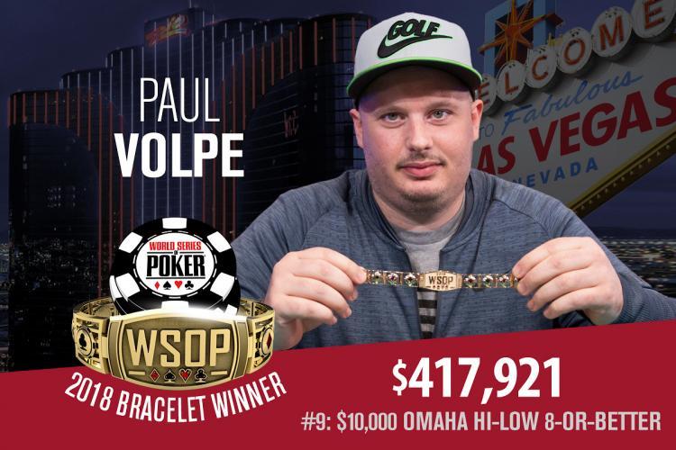Paul Volpe conquista o tricampeonato na WSOP/CardPlayer.com.br