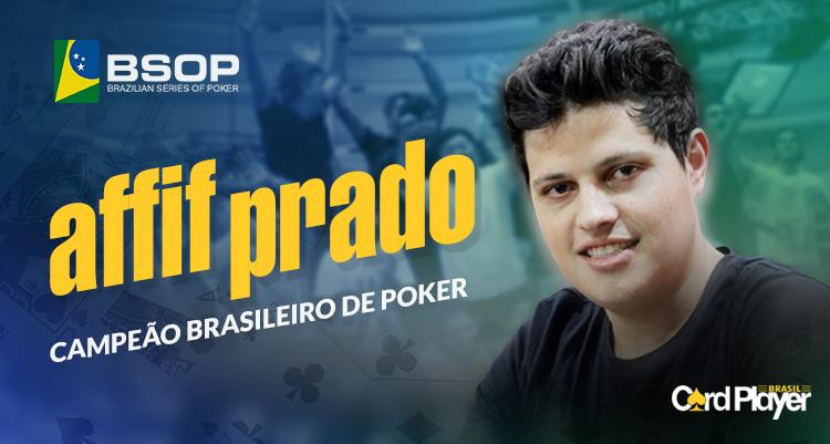 Affif Prado é o campeão brasileiro de poker/CardPlayer.com.br