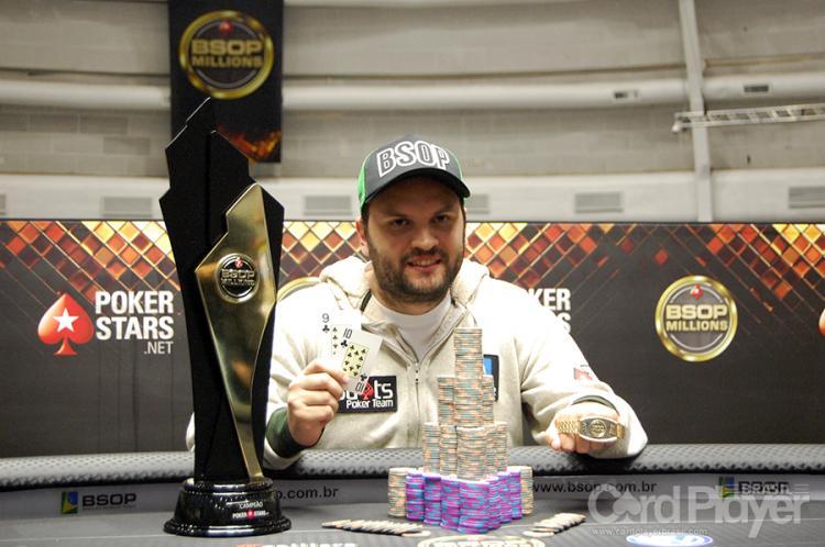 Saulo Sabioni crava o Main Event do BSOP Millions e fatura R$ 1 milhão/CardPlayer.com.br