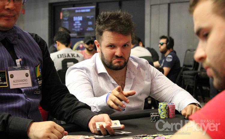 """Vitor """"theDZIguy"""" Dzivielevski sobe ao pódio do High Roller do PartyPoker/CardPlayer.com.br"""