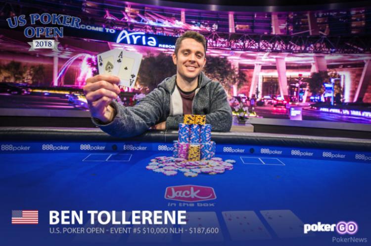 Ben Tollerene leva a melhor no Evento 5 do US Poker Open/CardPlayer.com.br