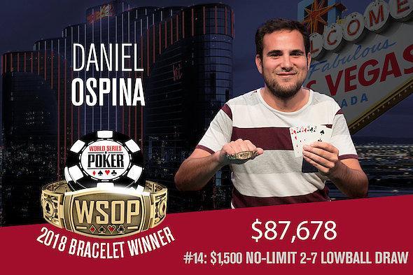 Daniel Ospina conquista o primeiro título da Colômbia na WSOP/CardPlayer.com.br