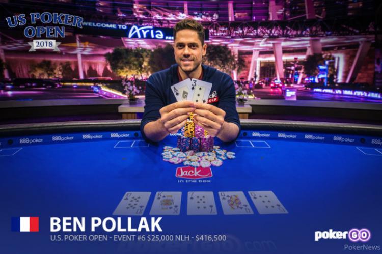 Benjamin Pollak é campeão do Evento 6 do US Poker Open/CardPlayer.com.br