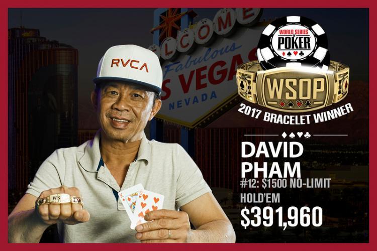 """David """"The Dragon"""" Pham crava o Evento 12 da WSOP/CardPlayer.com.br"""