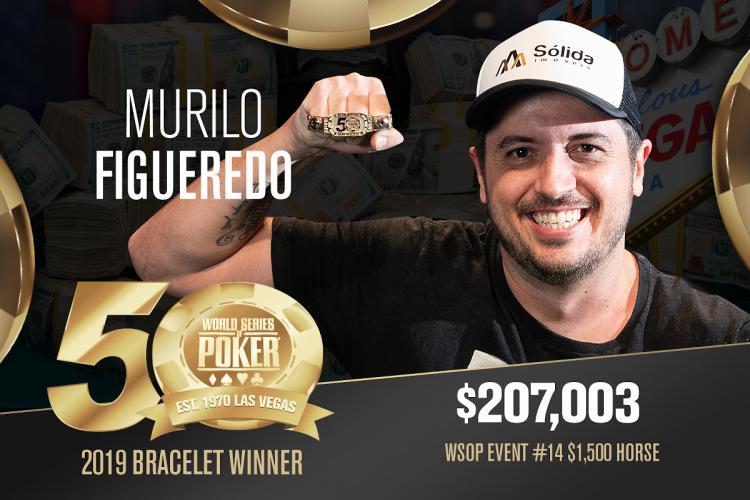 Murilo Figueredo leva a melhor em longo heads-up e conquista o penta para o Brasil na WSOP/CardPlayer.com.br