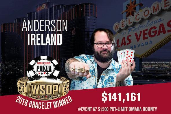 Anderson Ireland crava Evento 67 da WSOP/CardPlayer.com.br