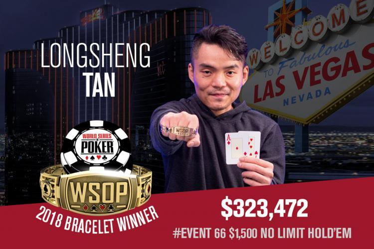 Longsheng Tan leva a melhor no Evento 66 da WSOP/CardPlayer.com.br