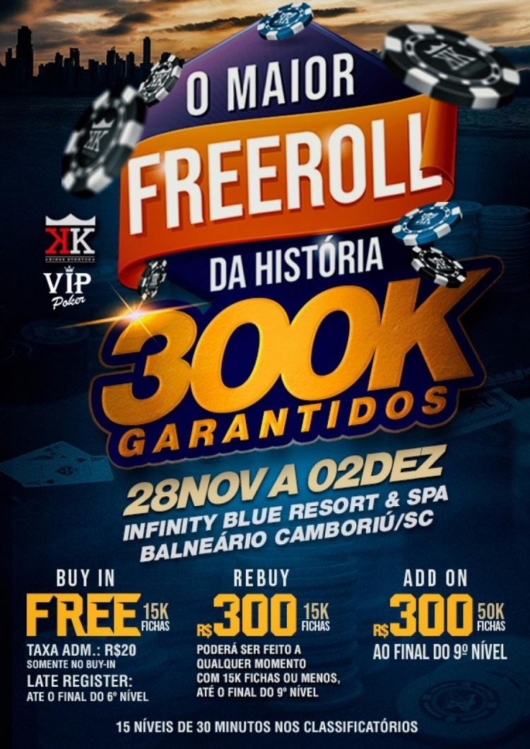 Kings Eventos anuncia freeroll com R$ 300 mil garantidos/CardPlayer.com.br