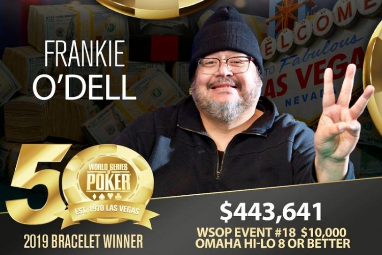 Frankie O'Dell conquista terceiro bracelete no Omaha eight-or-better/CardPlayer.com.br