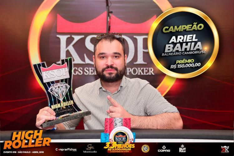 Ariel Bahia volta a vencer o High Roller do KSOP/CardPlayer.com.br
