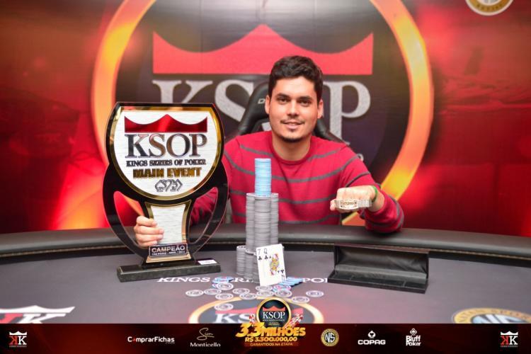 Gabriel Bonfim conquista o título do KSOP São Paulo/CardPlayer.com.br
