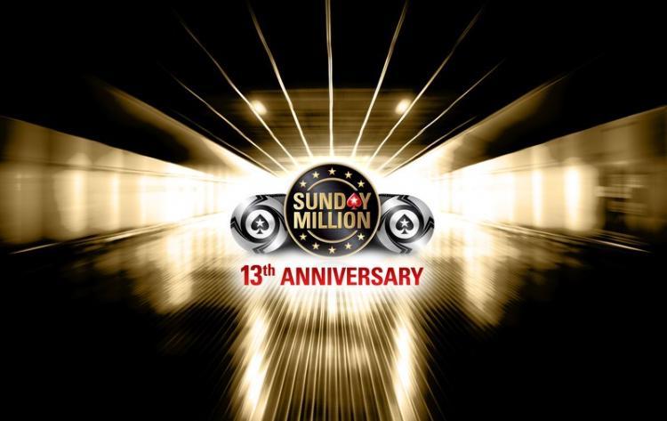 PokerStars celebra 13º aniversário do Sunday Million com garantido de US$ 10 milhões/CardPlayer.com.br