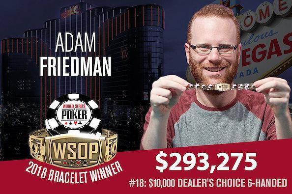 Adam Friedman crava Evento 18 da WSOP/CardPlayer.com.br