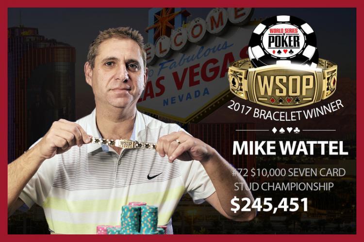 Mike Wattel volta a vencer na WSOP após 18 anos/CardPlayer.com.br