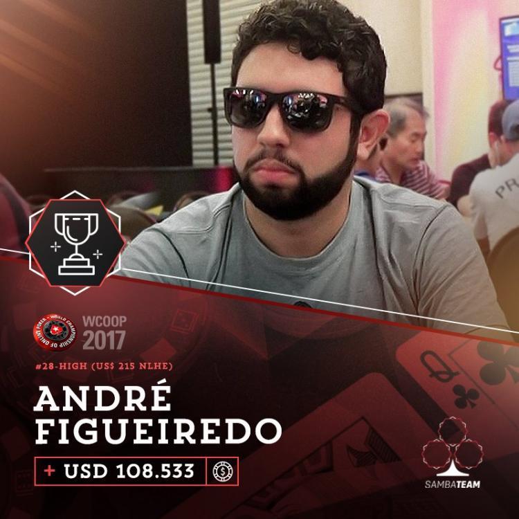"""André """"Andreflk13"""" Figueiredo conquista o bi do Brasil no WCOOP 2017/CardPlayer.com.br"""