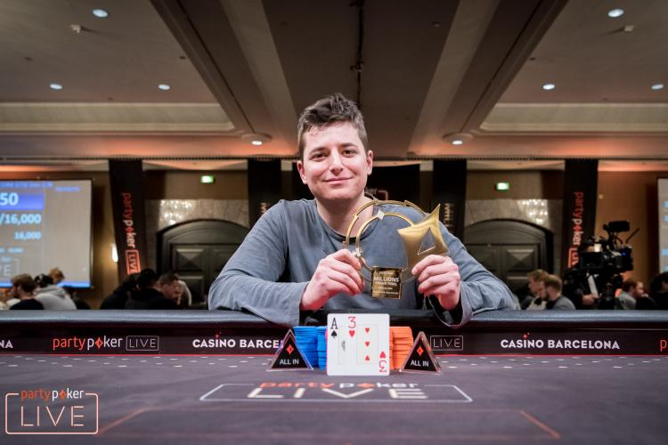 Jake Schindler é campeão do € 100.000 Super High Roller do partypoker LIVE MILLIONS Grand Final Barcelona/CardPlayer.com.br
