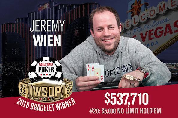 Jeremy Wien conquista o título do Evento 20 da WSOP/CardPlayer.com.br